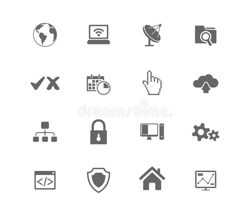 Web hosting icons stock illustration