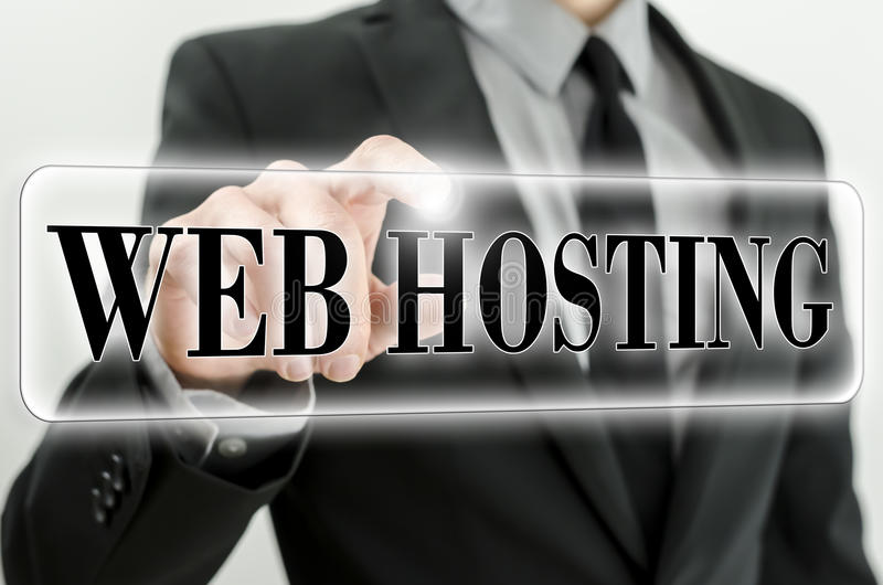 Web-Hosting-Ikone lizenzfreie stockfotos