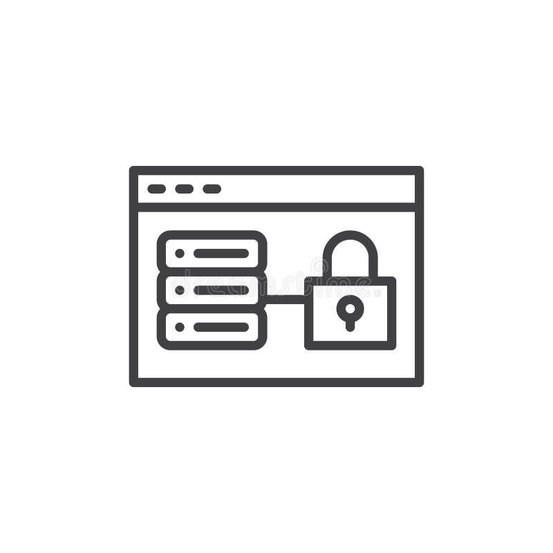 Web hosting kędziorka linii ikona ilustracja wektor