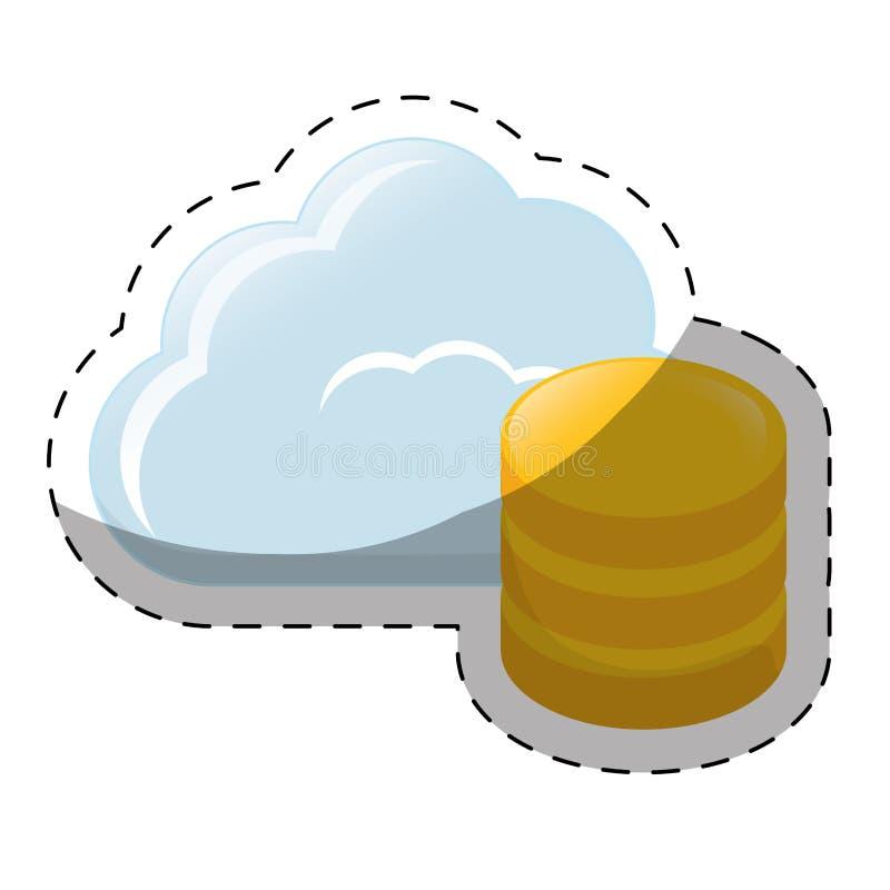 web hosting lub dane centrum ikon powiązany wizerunek royalty ilustracja
