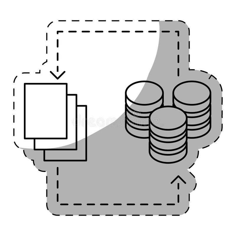 web hosting lub dane centrum ikon powiązany wizerunek ilustracja wektor
