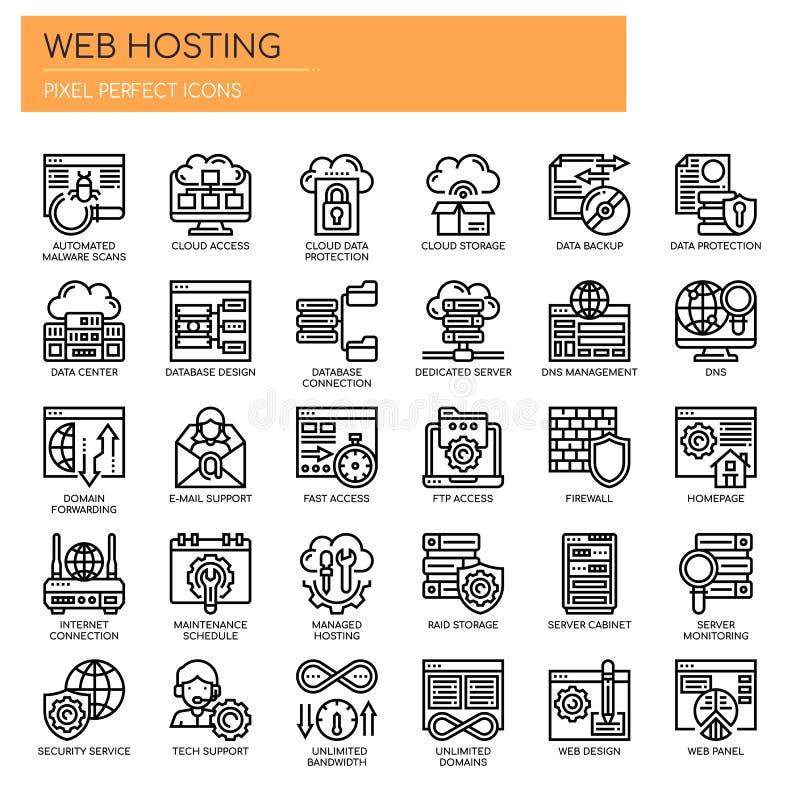 Web Hosting , Pixel Perfect Icons royalty free illustration