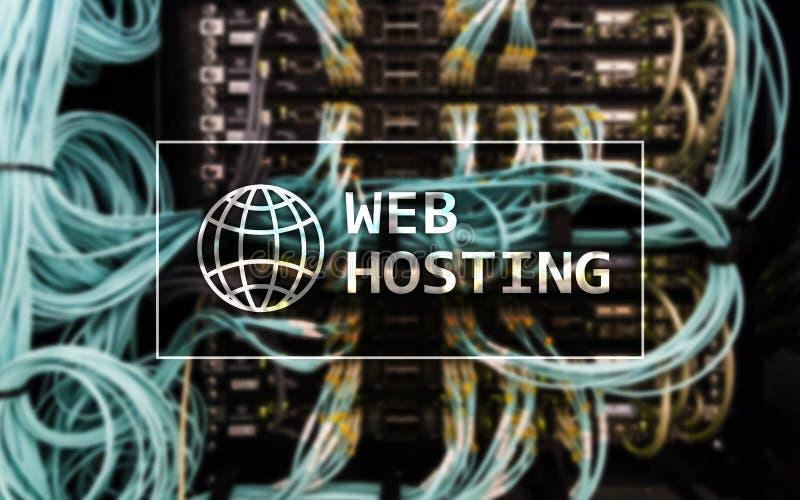 Web Hosting, providing składową przestrzeń i dostęp dla stron internetowych fotografia stock