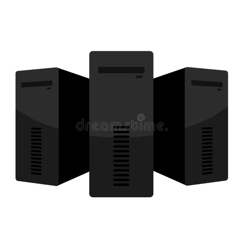 WEB HOSTING serie - ODOSOBNENI serwery royalty ilustracja