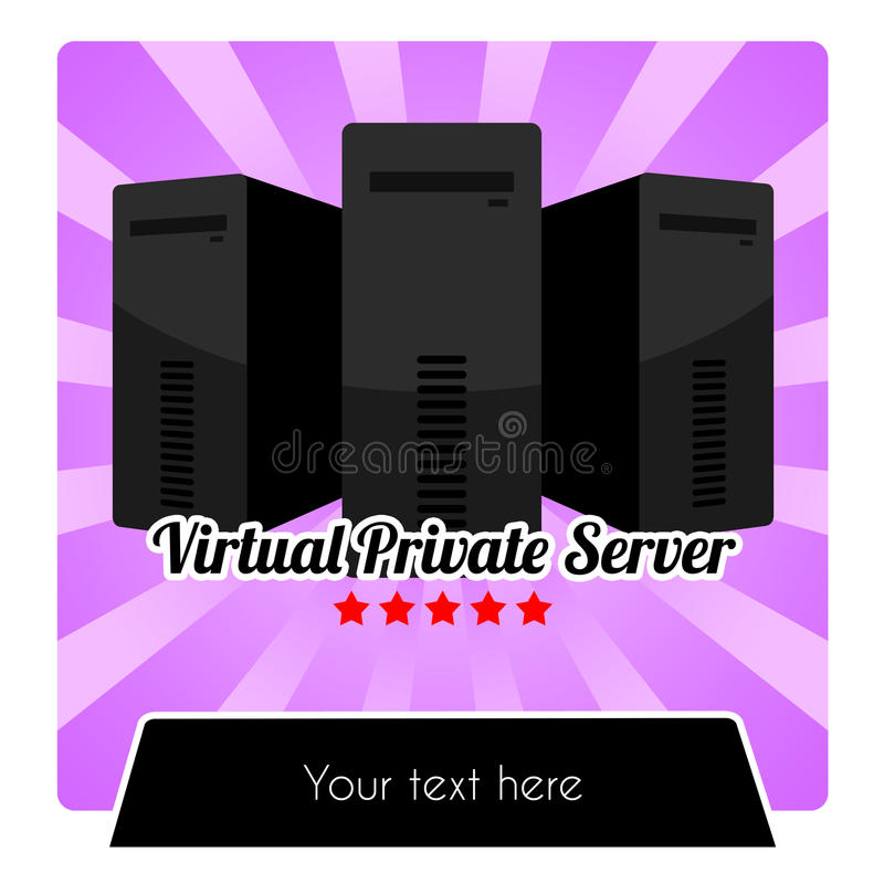 WEB HOSTING serie - WIRTUALNEGO INTYMNEGO serweru VPS szablon ilustracja wektor