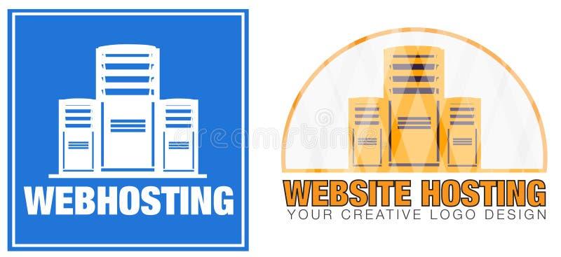 Web Hosting Server Company Logo stock photo