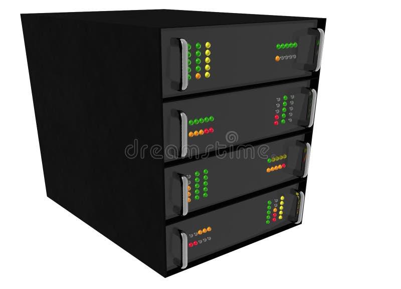 Web Hosting Server Rack on white. Small Web Hosting Server Rack on white royalty free illustration