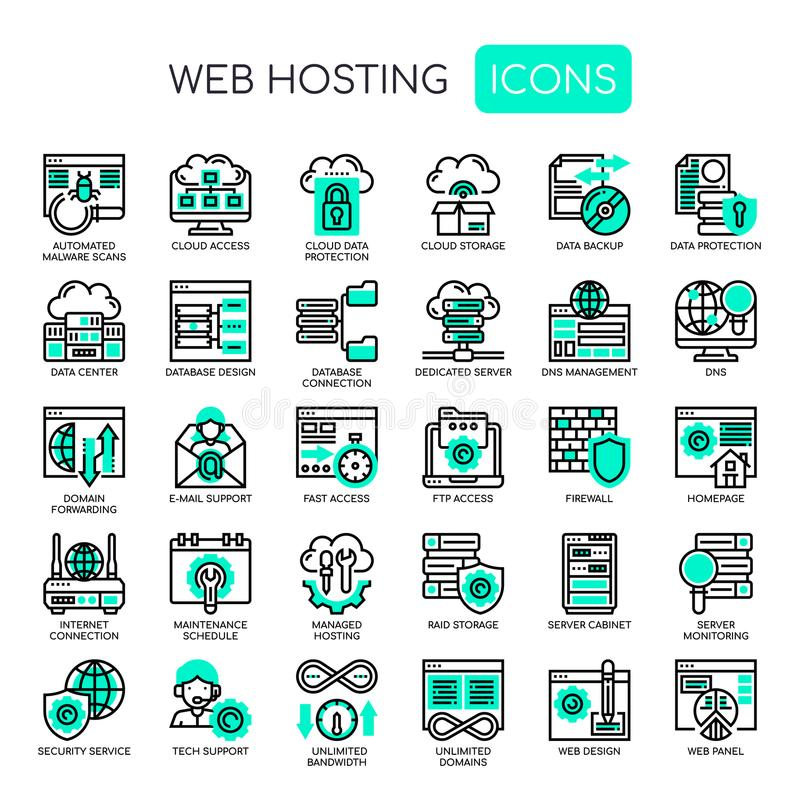 Web Hosting , Pixel Perfect Icons vector illustration