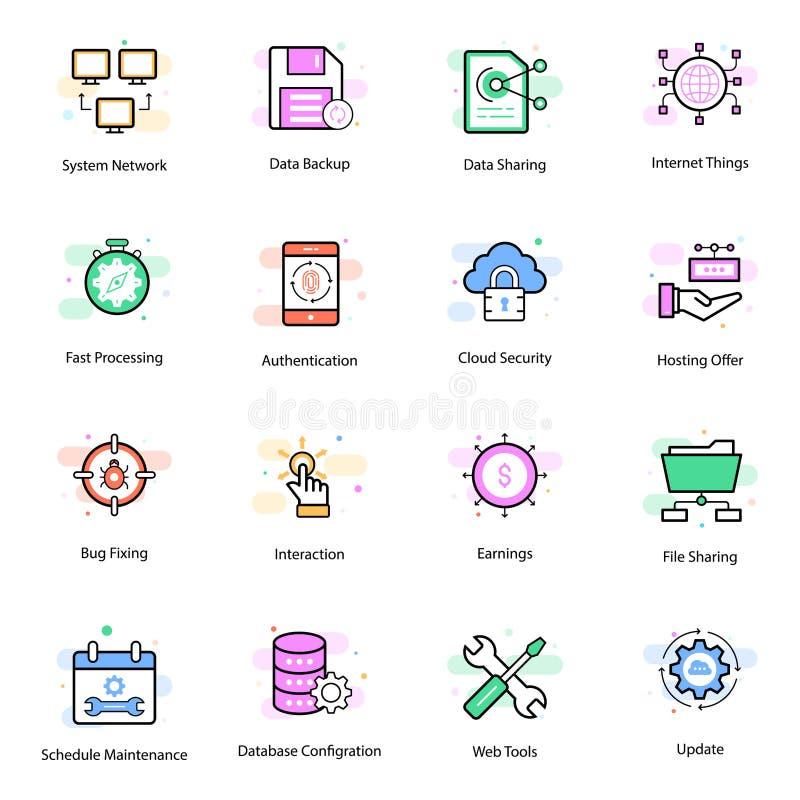 Web Hosting wektoru ikony ilustracji
