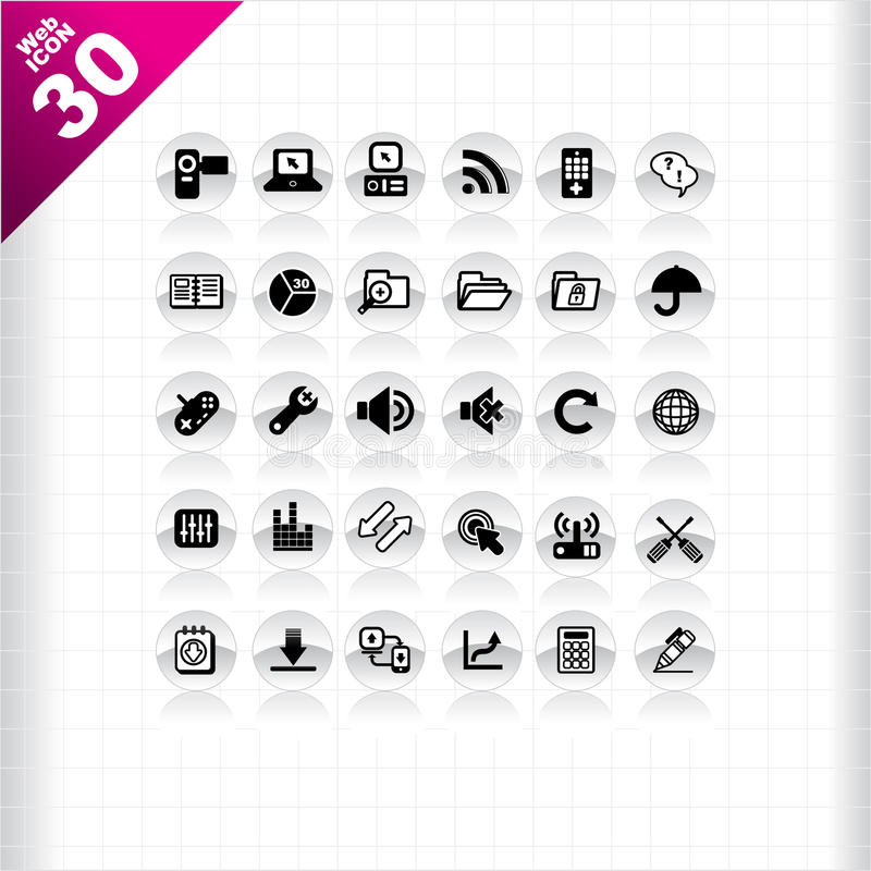 Download Web icon 30 stock vector. Illustration of computer, cart - 16794458