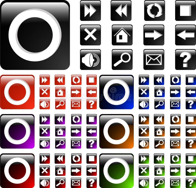 Web icon. The vector set black web icon vector illustration