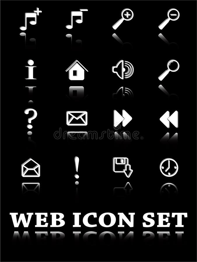 Web icon. The vector set web icon royalty free illustration
