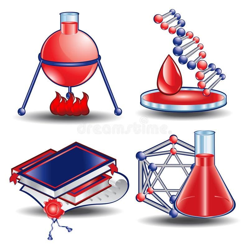 Web icon book chemistry blood royalty free illustration
