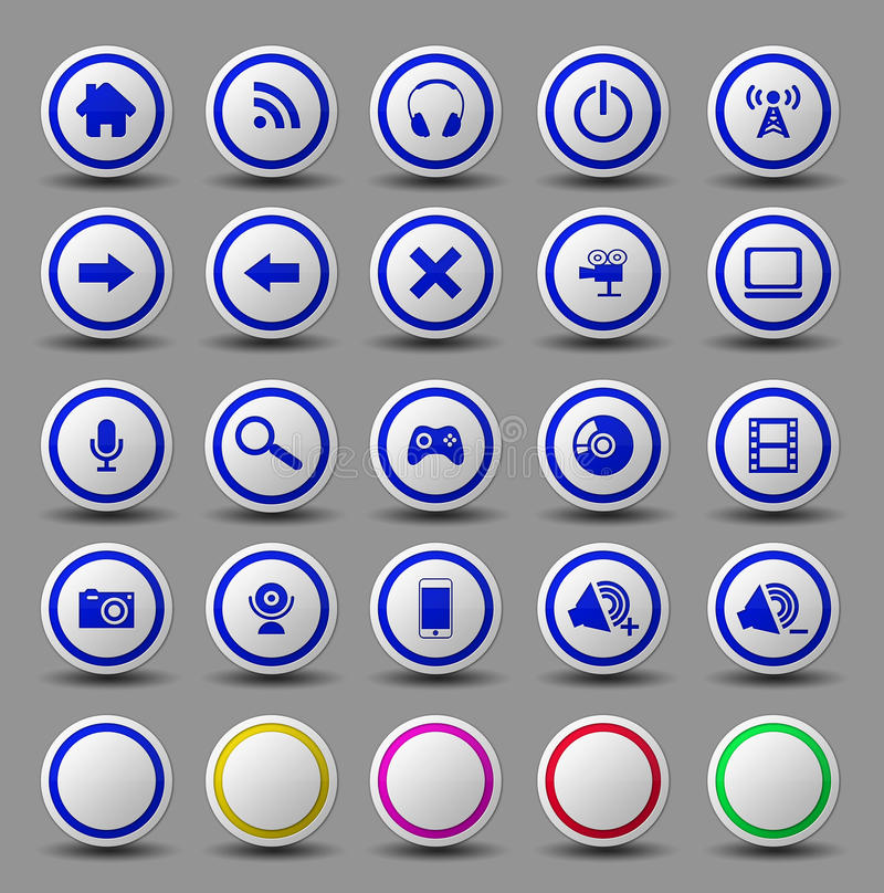 Download Web icon button set stock illustration. Image of internet - 28691967