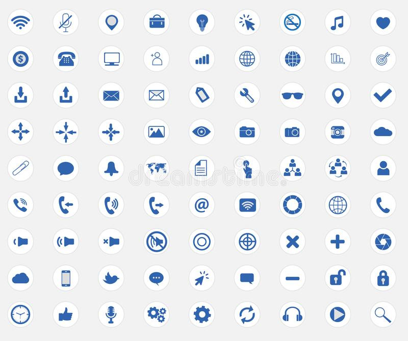 Web icon collection with flat web site signs. Web icon collection with web site signs royalty free illustration