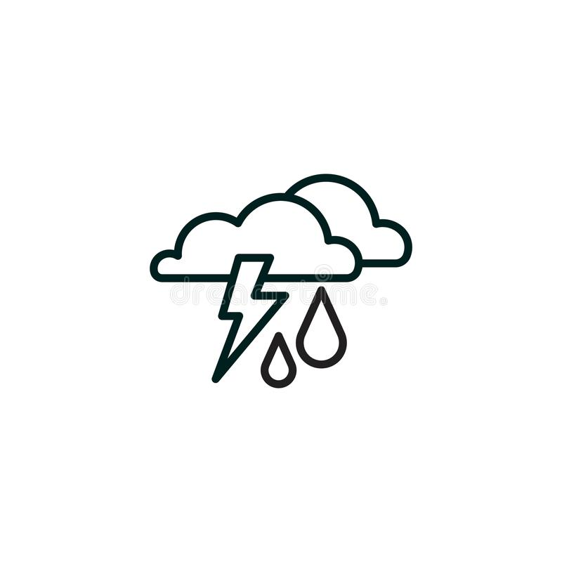 Icon. Haze storm, clouds, and rain. Thunderclouds royalty free illustration