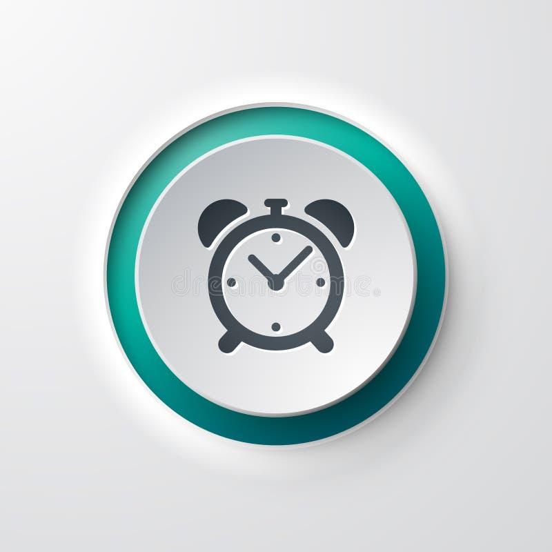 Web icon push-button alarm clock royalty free illustration