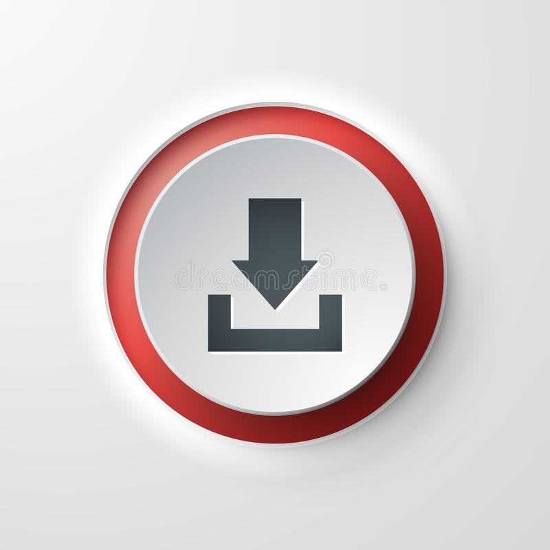 Web icon push-button download stock illustration