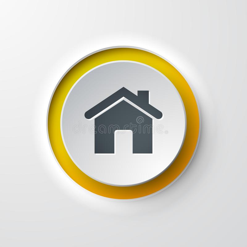 Web icon push-button home vector illustration