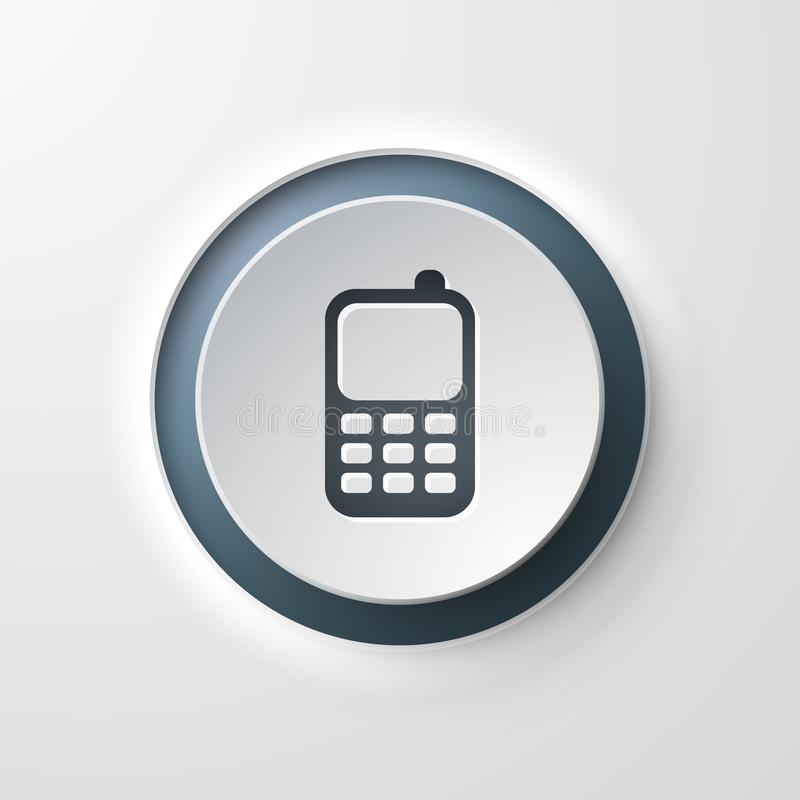 Download Web Icon Push-button Mobile Phone Contact Stock Illustration - Illustration of call, curved: 110984244