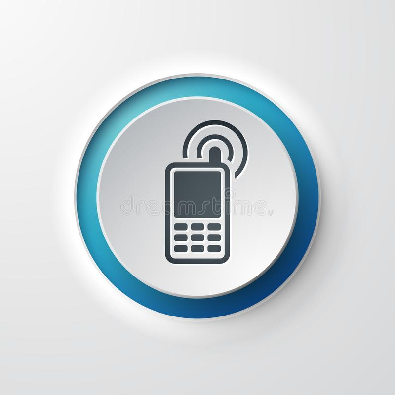 Download Web Icon Push Button Mobile Phone Contact Stock Illustration - Illustration of outline, blue: 111152923
