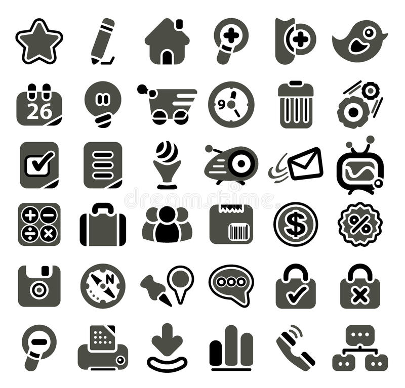 Download Web Icon Set Royalty Free Stock Image - Image: 15008706