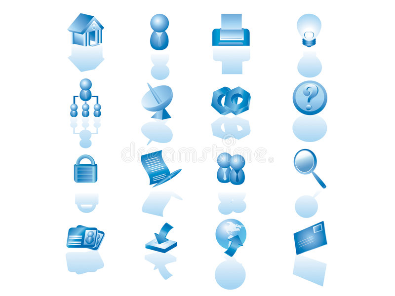 Web icon set. This icon set is suitable to many type of website