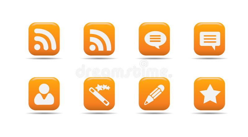 Web icon set 7| Apricot series. Web icon set 7 | Apricot series- a collection of 3d looking orange web icons