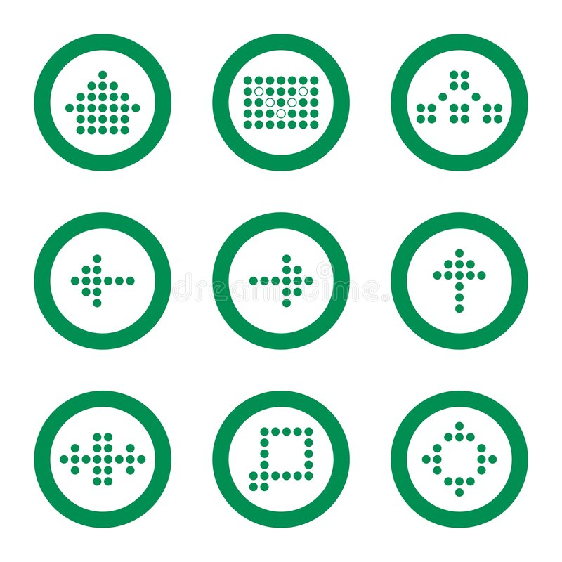 Web icon set. Website and Internet 9 icons stock illustration