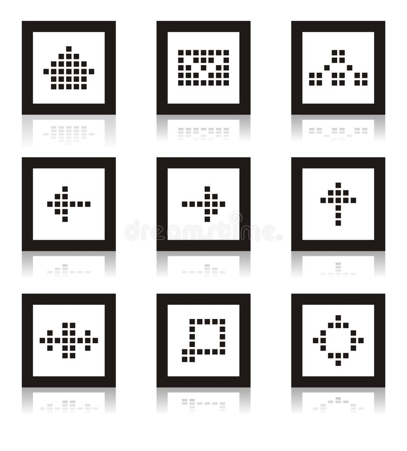 Web icon set. Of home, site map, forum, e-mail and others royalty free illustration