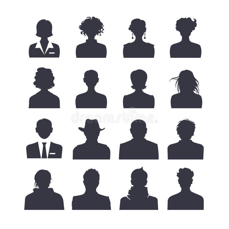 Web icon set avatars royalty free illustration