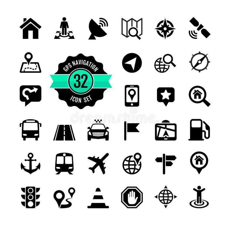 Web icon set. Location vector illustration