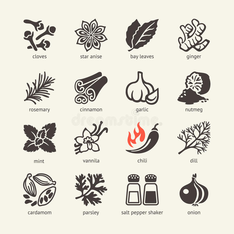 Free Web Icon Set - Spices, Condiments And Herbs Stock Images - 49026684