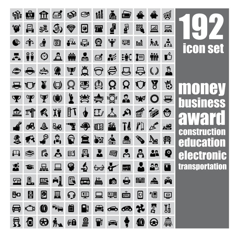 Web icon set stock illustration