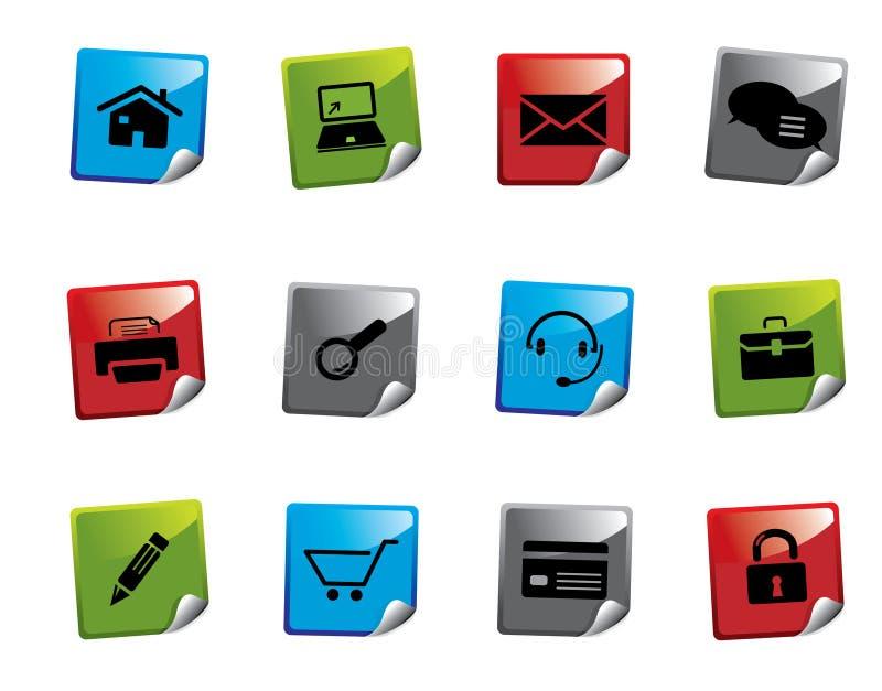 Web icon sticker series royalty free illustration