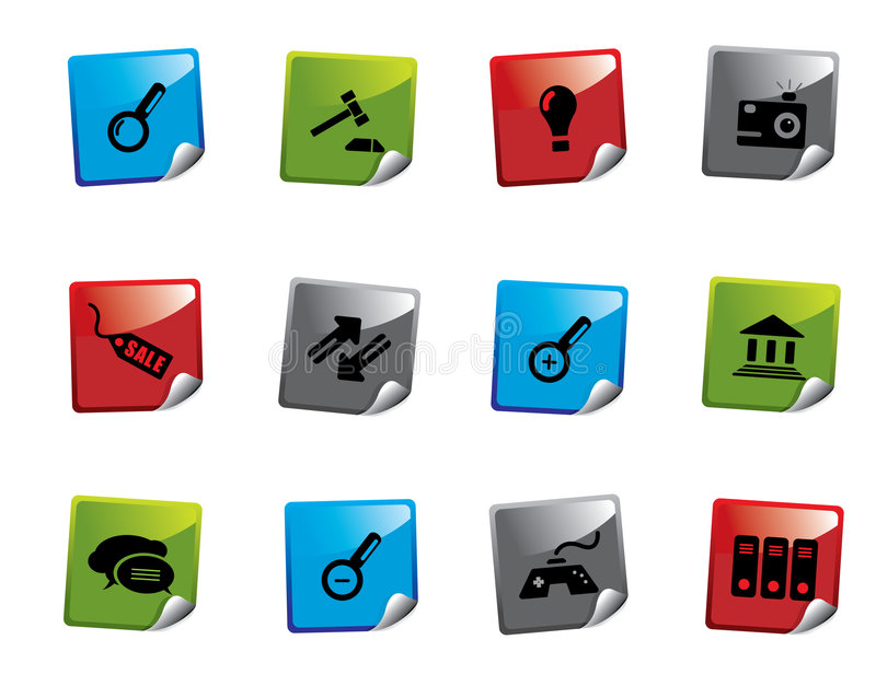 Download Web icon sticker series stock vector. Illustration of connect - 6789559
