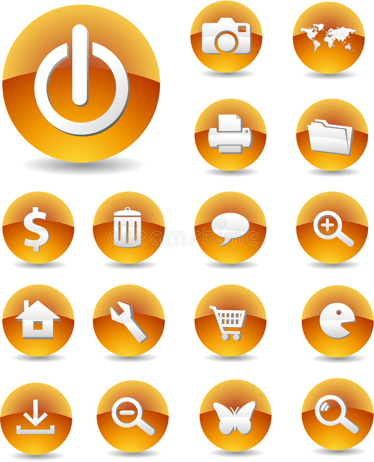 Web Icons 01 vector illustration