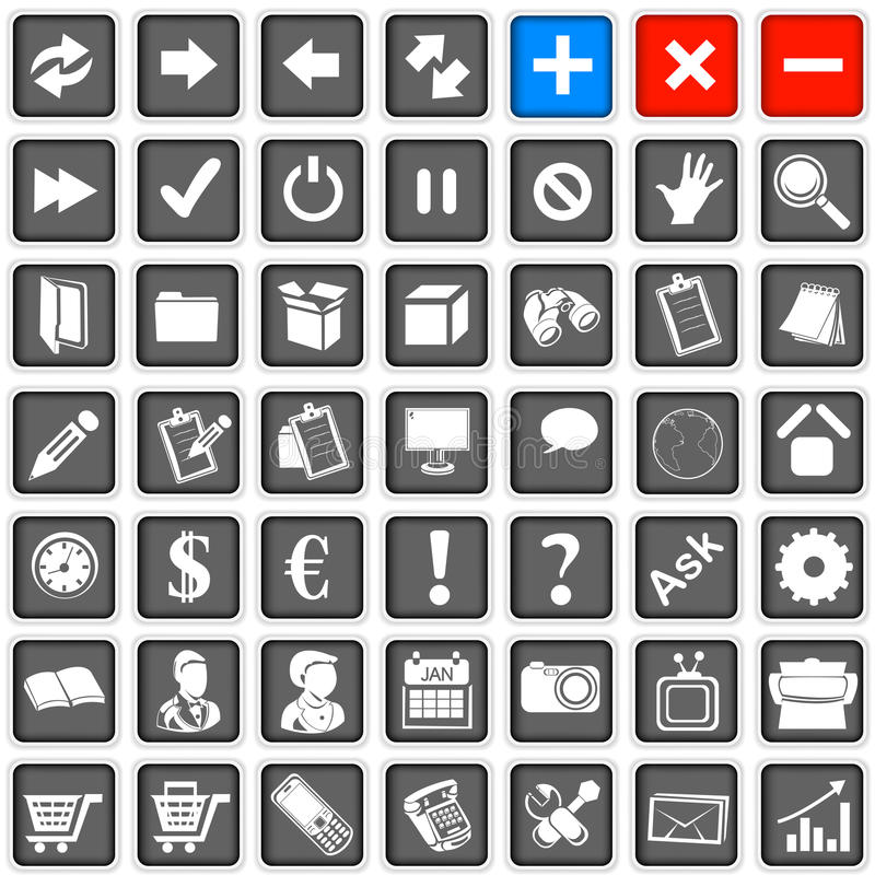 Download Web icons 1 stock vector. Illustration of power, finance - 28562294