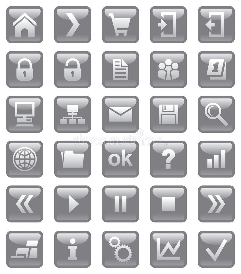 Download Web Icons. Stock Photo - Image: 10400740