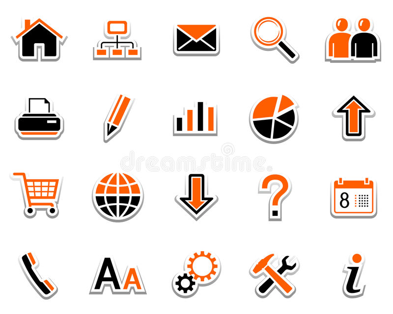 Web icons. Set of web icons. Pictogram series