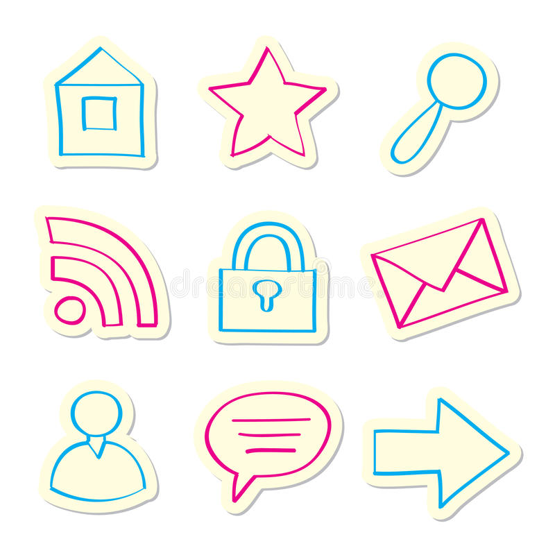 Web Icons. On White Background vector illustration