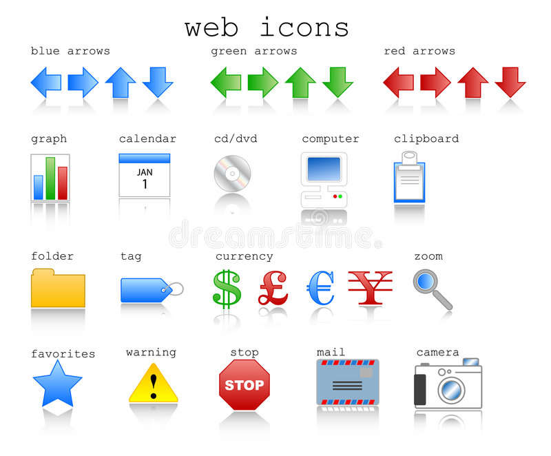 Web Icons. Various web icons in vector format with internet theme