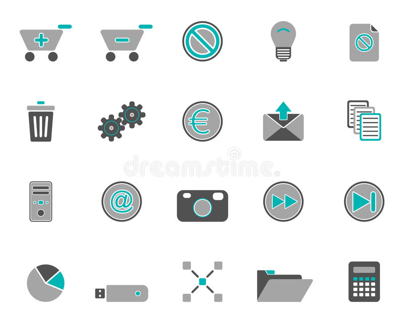 Download Web icons stock vector. Illustration of circle, internet - 19095149