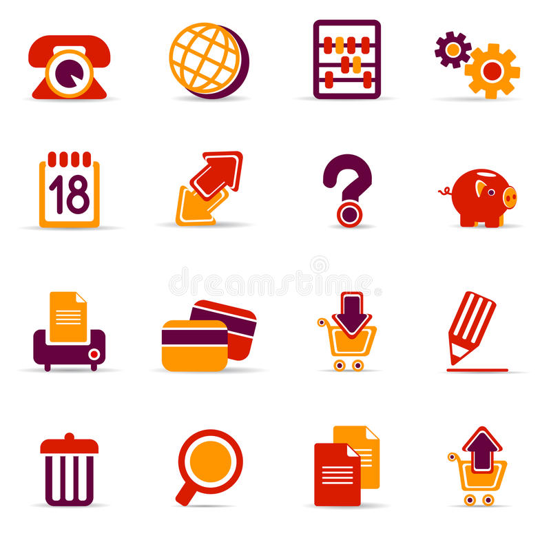 Download Web icons stock vector. Image of save, print, banking - 20203937