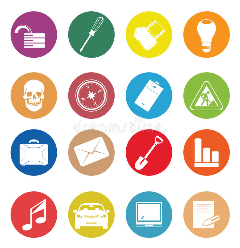 Download Web Icons stock vector. Image of file, icons, business - 20739905