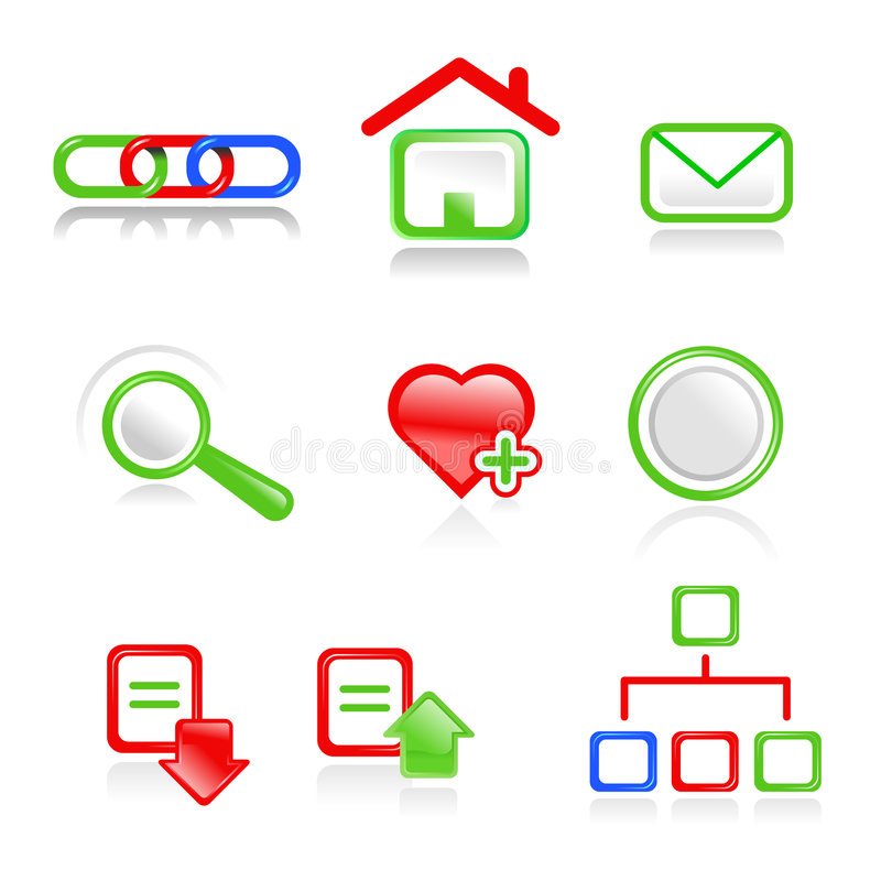 Web icons. Web vector navigation icons.Useful for web projects stock illustration