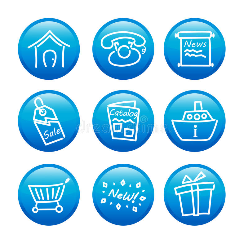 Download Web icons stock vector. Image of news, information, website - 25182507