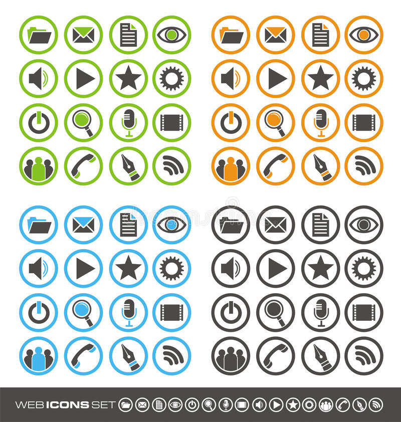 Download Web icons stock vector. Illustration of icons, mail, business - 27190425