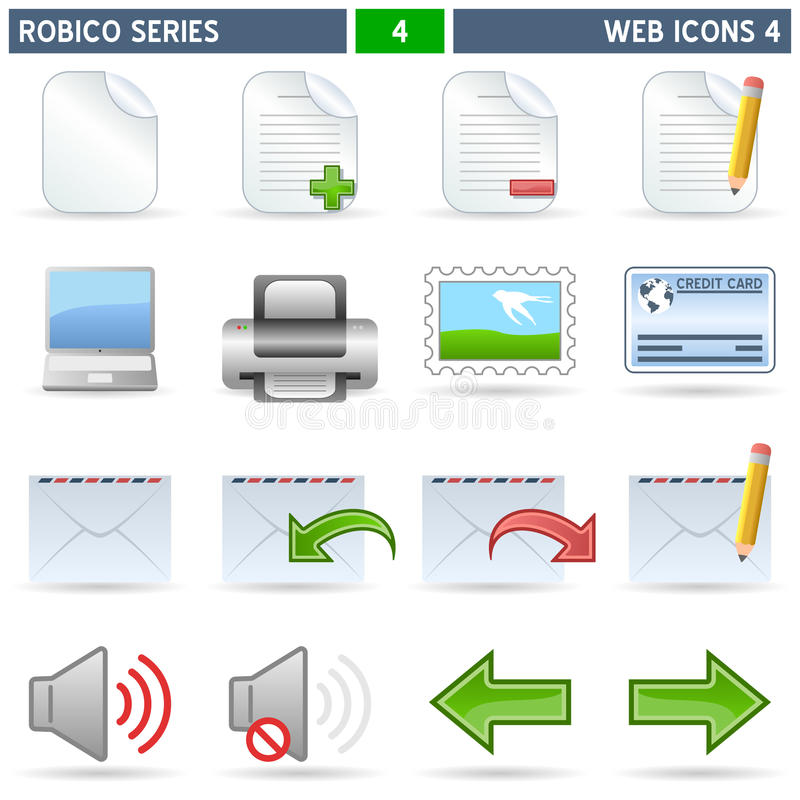 Download Web Icons [4] - Robico Series Stock Photo - Image: 13315830