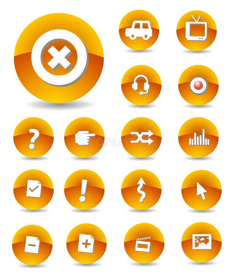 Web Icons stock illustration